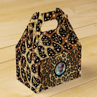 Cheetah Stars Replace Image Wedding Favour Box