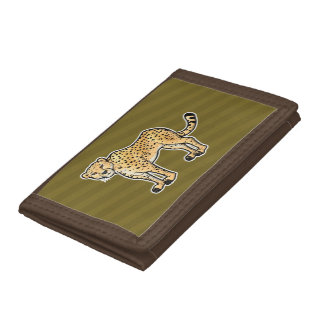 Cheetah Tri-fold Wallets