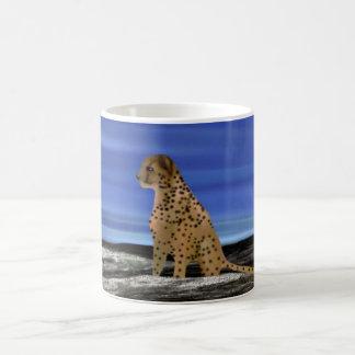 Cheetah under the blue sky coffee mug