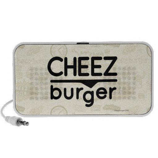 Cheezburger Logo (black) Mp3 Speakers