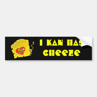 cheeze luv bumper sticker