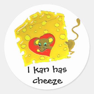 cheeze luv round sticker