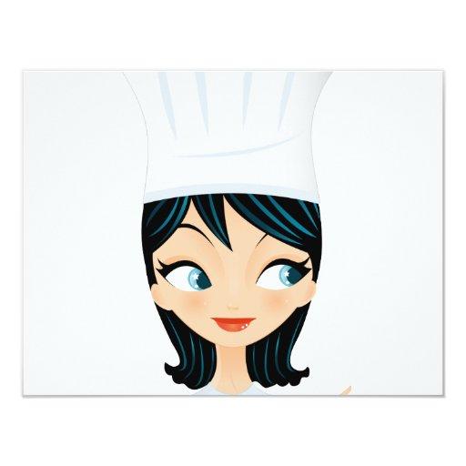 Chef 4.25x5.5 Paper Invitation Card