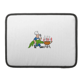 Chef Alligator Spatula BBQ Grill Cartoon Sleeve For MacBook Pro