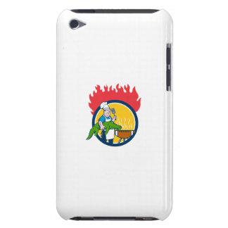 Chef Alligator Spatula BBQ Grill Fire Circle Carto iPod Case-Mate Case