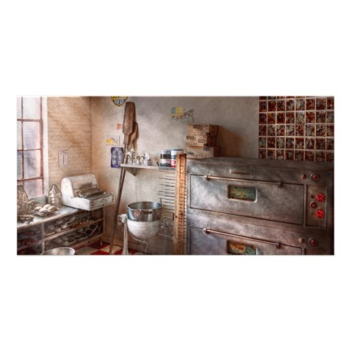 Chef - Baker - The bread oven Photo Greeting Card