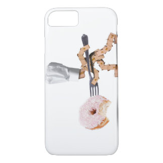 Chef box character attacking a large doughnut iPhone 8/7 case