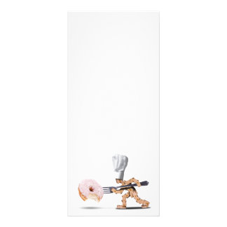 Chef box character attacking a large doughnut rack card