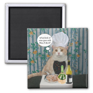 Chef Bubba Kitty Magnet