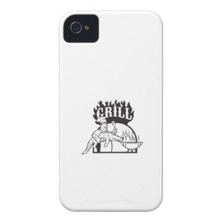 Chef Carry Alligator Grill Cartoon iPhone 4 Case