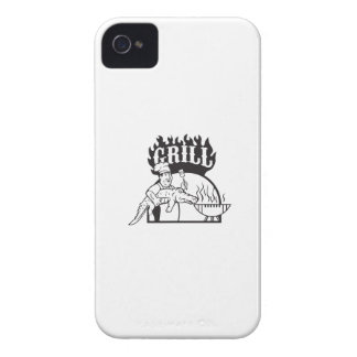 Chef Carry Alligator Grill Cartoon iPhone 4 Case-Mate Cases
