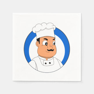 Chef cartoon paper napkin
