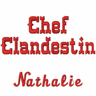 Chef clandestin personalisé avec votre nom embroidered polo shirt