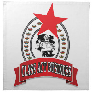 chef class act business napkin