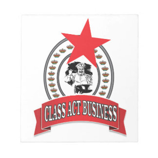 chef class act business notepad