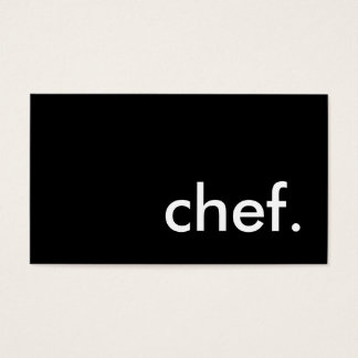 chef. (color customizable) business card