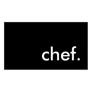 chef color customizable business card template