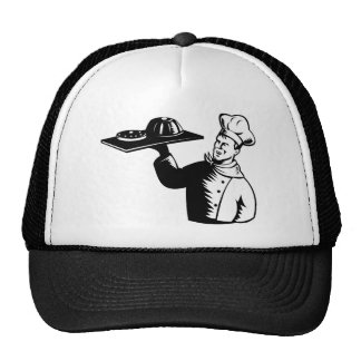 chef cook baker retro mesh hats