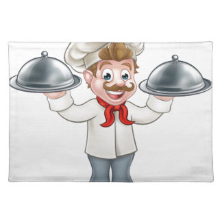 Chef Cook Cartoon Character Mascot Placemat