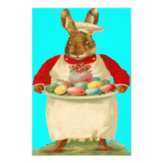 Chef Cook Easter Bunny Rabbit Colored Egg Photograph