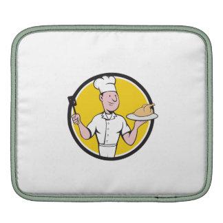 Chef Cook Roast Chicken Spatula Circle Cartoon Sleeve For iPads