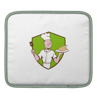 Chef Cook Roast Chicken Spatula Crest Cartoon iPad Sleeves