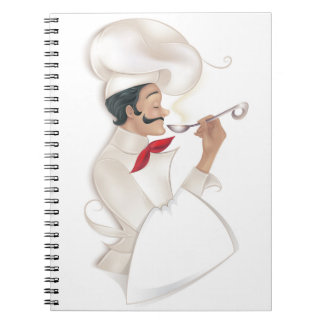 Chef Cookbook Recipe (place your text onto towel) Notebooks