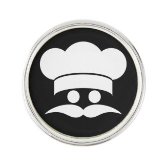 Chef custom color lapel pin