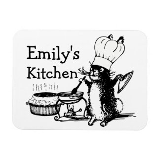Chef Cute Bunny Magnet