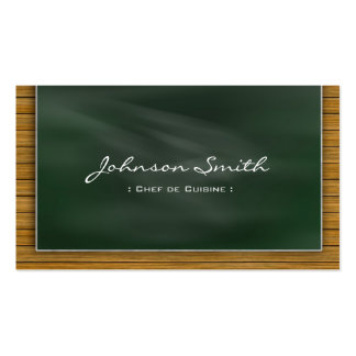 Chef de Cuisine - Cool Chalkboard Double-Sided Standard Business Cards (Pack Of 100)