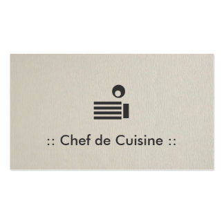 Chef de Cuisine Simple Elegant Professional Pack Of Standard Business Cards