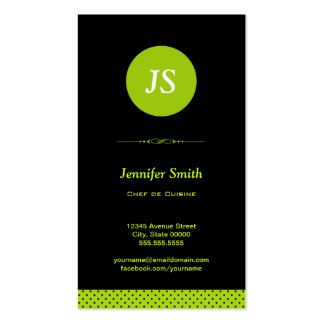 Chef de Cuisine - Stylish Apple Green Pack Of Standard Business Cards