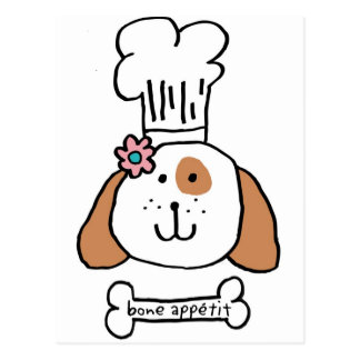 Chef Doggie Postcard