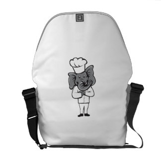 Chef Elephant Arms Crossed Standing Cartoon Commuter Bag