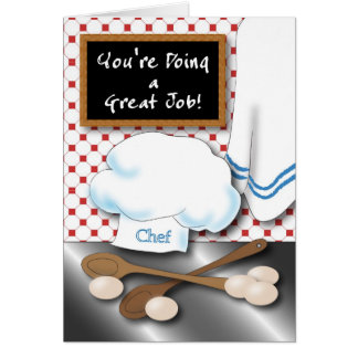 Chef Encouragement card