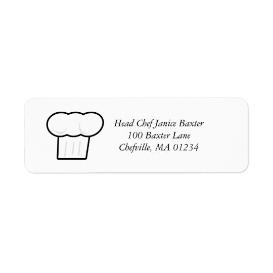 Chef Hat Address Label Stickers