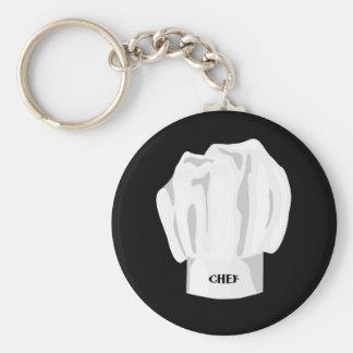 Chef Hat BasicKeychain Basic Round Button Key Ring