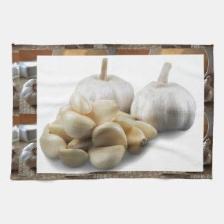 Chef Healthy Eating Cuisine Art Garlic Seasoning Kitchen Towel