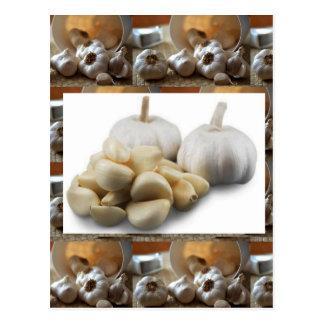 Chef Healthy Eating Cuisine Art Garlic Seasoning Postcard