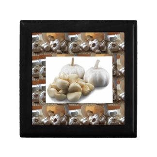 Chef Healthy Eating Cuisine Art Garlic Seasoning Small Square Gift Box
