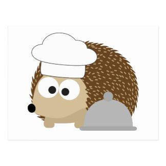 Chef Hedgehog Postcard