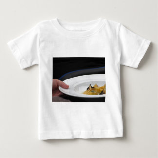 Chef holding cooked handmade Agnolotti to serve Baby T-Shirt
