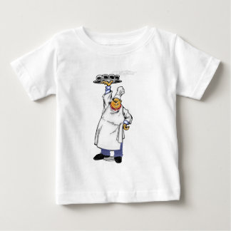 Chef holding tray of hat food baby T-Shirt