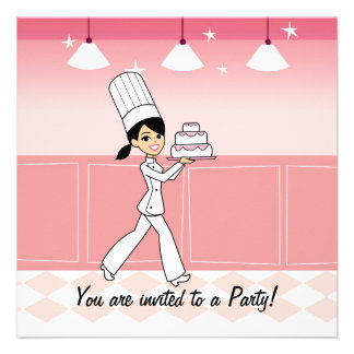 Chef Invitation for Girls