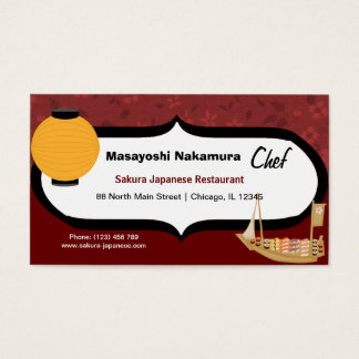 Chef Japanese Restaurant Business Card