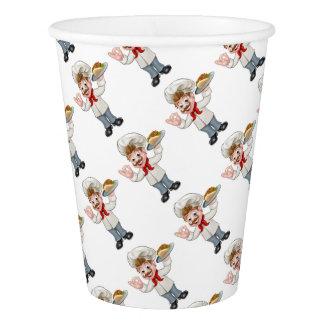 Chef Kebab Cartoon Paper Cup