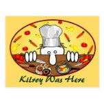 Chef Kilroy Postcard 2