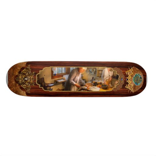 Chef - Kitchen - Coming home for the holidays Skateboard Deck