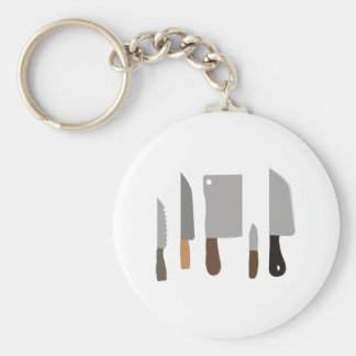 Chef Knives Basic Round Button Key Ring