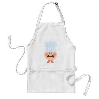 Chef Man Face Cartoon Logo Mascot Standard Apron